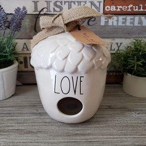 NEW Rae Dunn Acorn LOVE Birdhouse